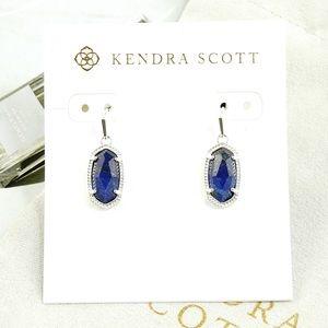 Kendra Scott lee earrings blue lapis silver